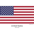 National flag of United States with correct vector image vector image