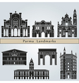 Parma landmarks and monuments vector image vector image