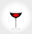 Realistic glass of red wine in vector image