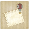 retro background with air balloon vector image