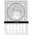santas sack with candy and gifts calendar may vector image