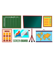 screen board set business education vector image vector image