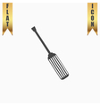 screwdriver icon sign and button vector image vector image