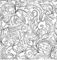 seamless pattern background in baroque rococo vector image vector image