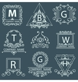 Set victorian logos ornamental corporate style vector image vector image