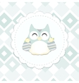 shabby chic owl vector image vector image