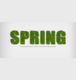 spring sign in green grass realistic vector image