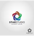 star studio logo template vector image vector image