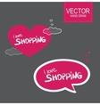 Stiker set I love shopping vector image vector image