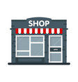 store building facade icon open shop concept vector image