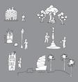 tourist in Barcelona vector image