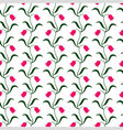 tulip pattern vector image vector image