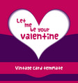 valentine day paper heart template vector image