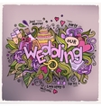 Wedding hand lettering and doodles elements vector image