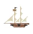 drawing pirate ship sail adventure vector image