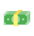 simple business flat of cash money icon design vector image
