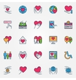Colorful support and care icons vector image