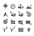 Navigation icon vector image