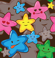 star smiles seamless background vector image