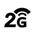 2g wireless wifi icon vector image