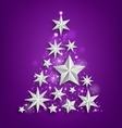 Abstract Garland Made of Silver Stars for Happy vector image vector image