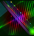 abstract hi-tech background with glowing lines vector image