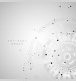 abstract polygonal social network vector image
