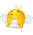 angel emoticon isolated on white background vector image