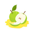 apples on honey holiday of rosh hashanah vector image