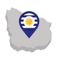 argentina emblem isolated icon vector image vector image
