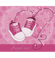 baby girl shoes arrival card vector image