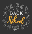 back to school banner template vector image vector image
