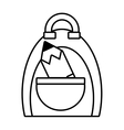 bag pencil school pupil outline vector image