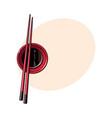 bamboo asian chinese japanese chopsticks lying vector image vector image