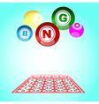bingo5 vector image