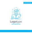 blue logo design for manager employee doctor vector image vector image