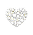 bubbles soap in the form of hearts vector image vector image