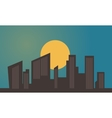 Building and sun silhouettes vector image vector image