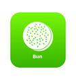 bun icon green vector image vector image