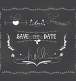 chalkboard wedding graphic set vector image vector image