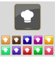 Chef hat sign icon Cooking symbol Cooks hat Set vector image