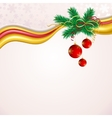 Christmas background with red balls and green vector image