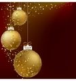 Christmas ball golden snowflakes EPS10 vector image vector image