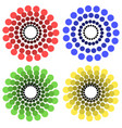 colorful circle motifs vector image