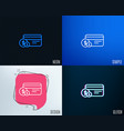 credit card line icon payment card with coins vector image vector image