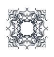 crest vintage decoration swirls emblem vector image vector image