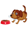 Doggy dinner vector image vector image