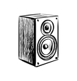 Doodle speaker icon vector image vector image