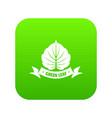 eco planet icon green vector image