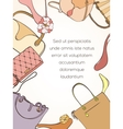 Fashion shopping card vector image vector image